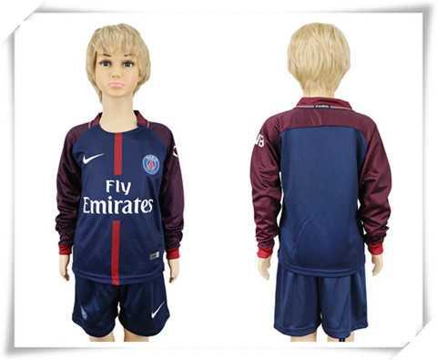 Günstig Paris Saint-Germain kinder lange ärmel heimtrikot fußball trikots billig kaufen 17-18